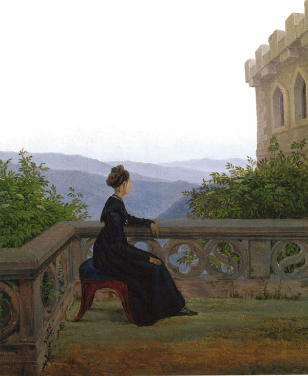 Carl Gustav Carus, Woman on the Balcony (1824).