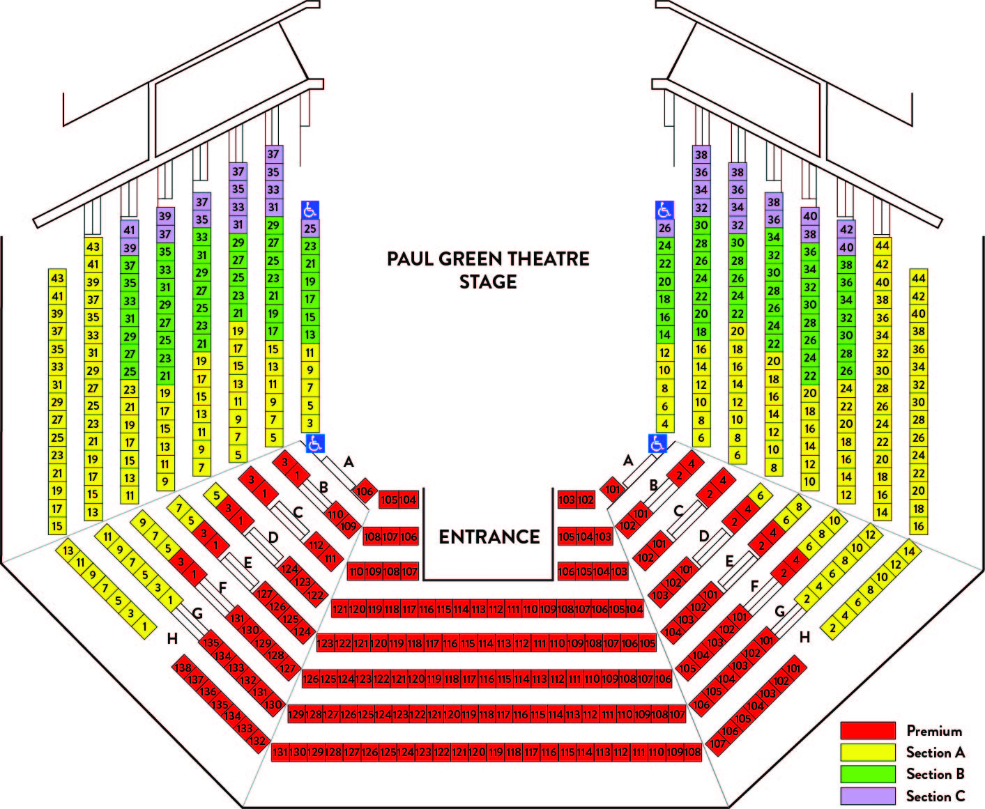 Paul Green Seating Chart